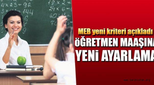 Öğretmen maaşına başarı ayarı