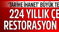 224 yıllık çeşme de restorasyon kurbanı