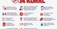 Corona virüs 14 kuralı nedir? Sağlık Bakanlığı corona virüs kuralları neler? Korona virüs 14 kuralı! Corona virüs korunma yöntemleri!