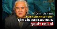 Doğu Türkistanlı Ünlü Türk Yazar Nur Muhammed Tohti Çin toplama kampında Şehit edildi