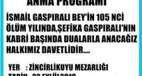 İSMAİL BEY GASPIRALI VEFATININ YIL DÖNÜMÜNDE İSTANBUL'DA ANILACAK