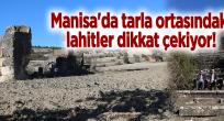 Manisa'da tarla ortasındaki lahitler dikkat çekiyor