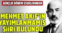 Mehmet Âkif'in yayımlanmamış şiiri
