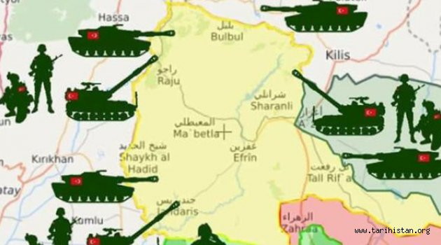 TERÖR ÖRGÜTÜ PKK/PYD AFRİN'DE KISKACA ALINDI