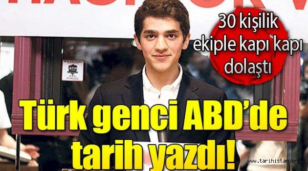 Türk genci tarih yazdı