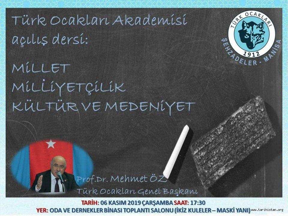 """Türk Ocakları Manisa Şehzadeler Şubesinde """"Türk Ocakları Akademisi"""" Başlıyor."""