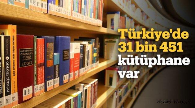 TÜRKİYE'DE 31 BİN 451 KÜTÜPHANE VAR
