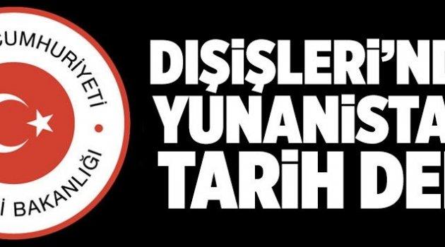 Türkiye'den Yunanistan'a sert tepki.