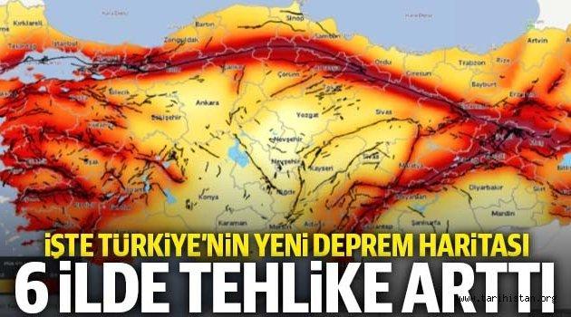 Türkiye'nin yeni deprem haritası