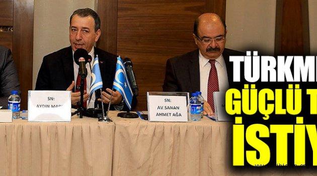 Türkmenler güçlü temsil istiyor