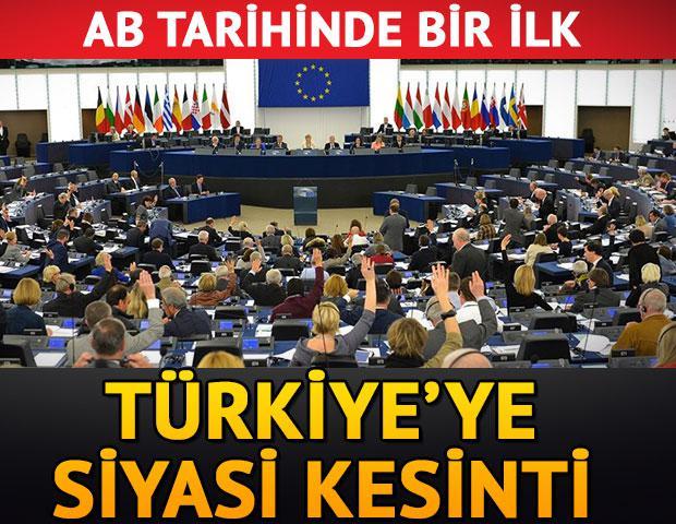 AB tarihinde bir ilk... Türkiye'ye siyasi kesinti!