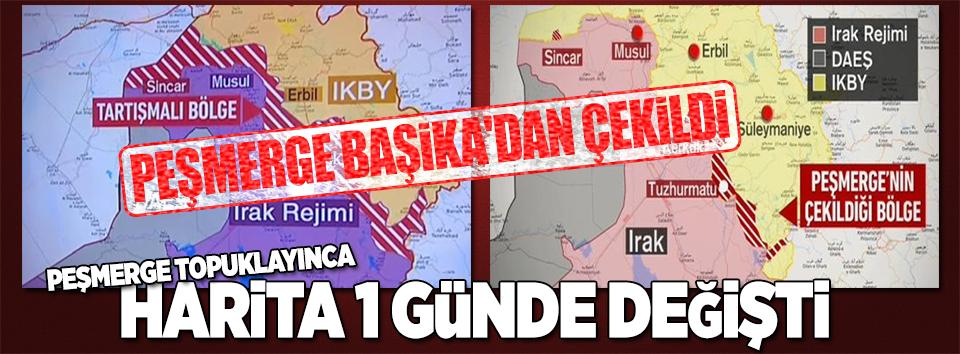 Irak haritası bir günde değişti.