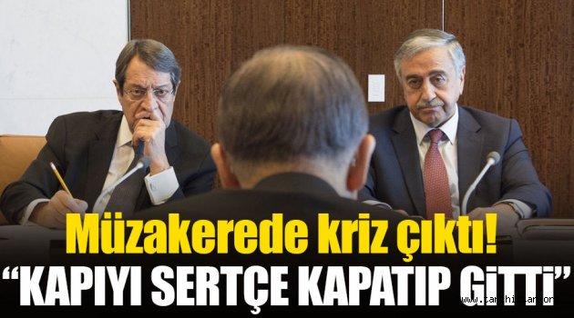 Kıbrıs müzakerelerinde kriz