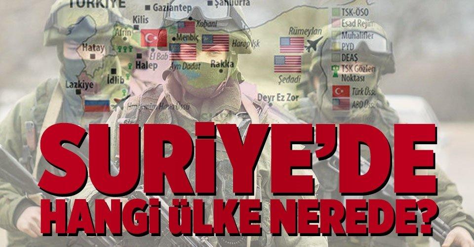 Suriye'de hangi ülke nerede