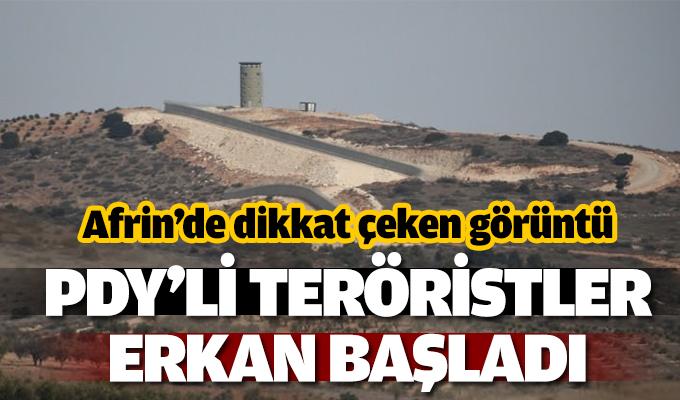 TERÖRİSTLER AFRİN'DEN KAÇIYOR!