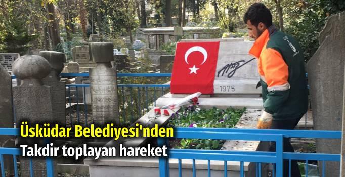 Türkçü fikir adamı Nihâl Atsız'ın kabri Üsküdar Belediyesi tarafından çiçeklendirildi.