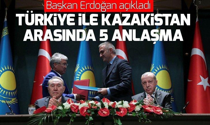 Türkiye ve Kazakistan'dan 5 anlaşma....
