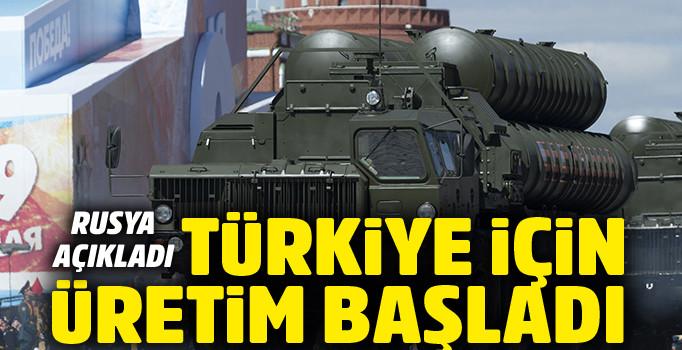 Türkiye'ye verilecek S-400'lerin üretimi başladı