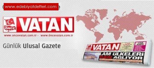Yazar Naci YENGİN Önce VATAN Gazetesinde yazmaya başladı